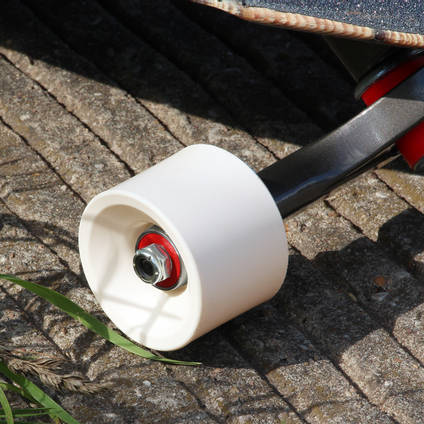 White Pigmented Skateboard Wheel
